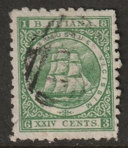 British Guiana 1866 Sc 68a used green