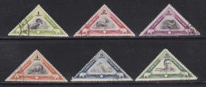 Liberia # 271-276, Triangles, Used Set, 1/2 Cat.