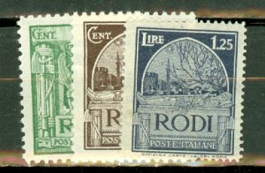 AM: Italy Rhodes 15-18, 20-21 mint CV $66; scan shows only a few
