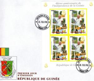 Pope John-Paul II Guinea 40th.Ann.Indep.98 Shlt Imperf. FDC