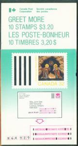 CANADA Scott 1225a Christmas 1988 Booklet