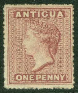 EDW1949SELL : ANTIGUA 1863 Sc #2 Very Fine, Mint, part OG. Very Fresh. Cat $140.