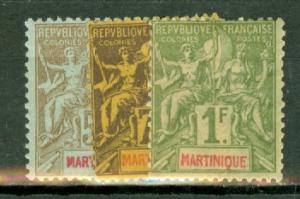 Martinique 33//51 most mint, missing 37 CV $348, scan shows only a few
