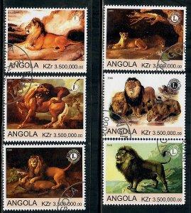 Angola Used Lions complete set CTO