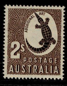 AUSTRALIA GVI SG224, 2s chocolate, M MINT.