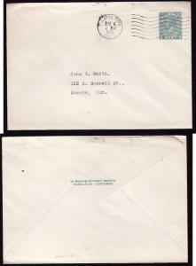 Canada - #10028 - 1c green KGV Medallion postal stationery (EN522-15) -