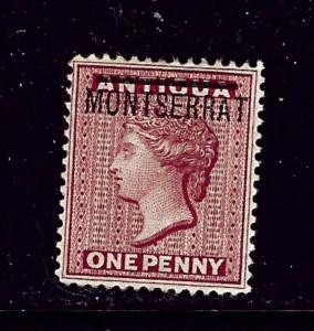 Montserrat #1 No Gum 1876 issue