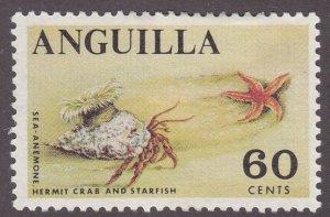 Anguilla 28 Hermit Crab & Starfish 1968