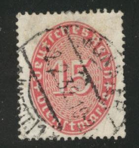 Germany Scott o74 used 1929 carmine stamp