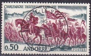 Andorra (Fr) #156 F-VF Used CV $8.50 (Z9624)