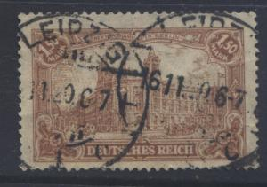 GERMANY-Scott 113 - Berlin Post Office - 1920- Used - Yel Br - Single 1.5m Stamp
