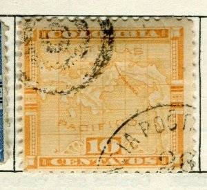 PANAMA; 1892 early Map issue fine used 10c. value