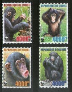 Guinea MNH 4222-5 Chimpanzees Primates WWF 2006