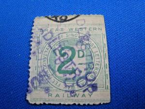GREAT BRITAIN - GREAT WESTERN RAILWAY STAMP  - Used     (s8119)