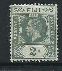 Fiji  GV  SG 128  MUH greyish slate
