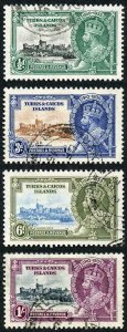 Turks and Caicos SG187/90 1935 Silver Jubilee Set Fine Used