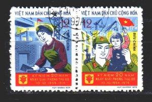 Vietnam. 1974. 776-77. 20 years of the liberation of Hanoi. USED.