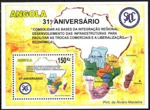 Angola 2011 Organisation SADC Maps S/S MNH
