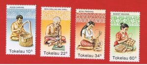 Tokelau #81-84 MNH OG  Jobs or Hobbies  Free S/H