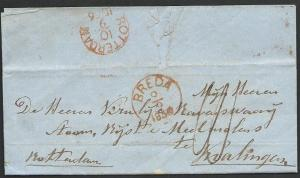 NETHERLANDS 1856 folded letter BREDA TO ROTTERDAM..........................49442