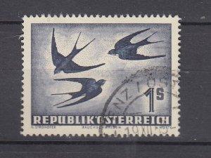 J29509, 1950-3 austria used #c55 birds