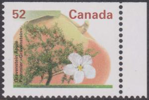 Canada USC #1366is Mint VF=NH Cat. $3. 1996 Gravenstein Apple Perf. 13.1