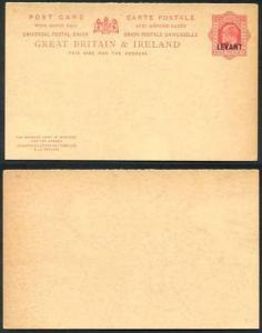 British Levant O/P on 1d Red Foreign Reply Postcard Mint