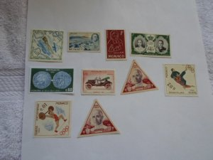 MONACO STAMPS LOT. 10 STAMPS. # 13