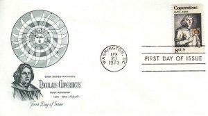 1973, 500th Birth Anniv. Nicolaus Copernicus, Artmaster, FDC (D14153)