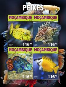 MOZAMBIQUE - 2019 - Fishes - Perf 4v Sheet - MNH