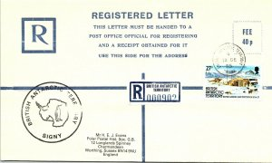 BRITISH ANTARCTIC TERRITORY ARCTIC ANTARCTIC POLAR CANCEL / CACHET #110
