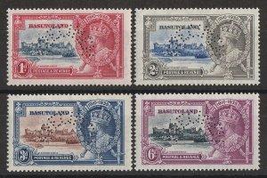 BASUTOLAND : 1935 KGV Silver Jubilee set 1d-6d, perf SPECIMEN. MNH **.