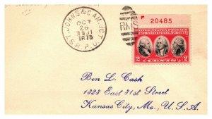 1931 St. Johns & Cam. Jct R.P.O.Railroad #129