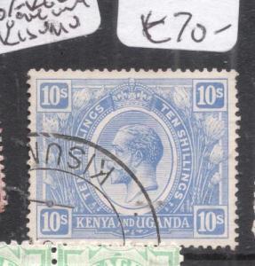 British KUT KGV 10/- Used Kisumu VFU (3dkc)