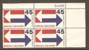 #E22 Special Delivery Plate Block #31495 Mint NH