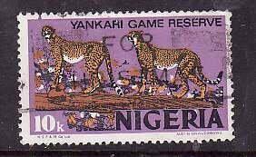 Nigeria-Sc#297- id5-used 10k Leopards-Animals-1973-4-