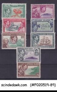 PITCAIRN ISLANDS - 1940 KGVI SG#1-8 ( #5a & 6a is missing) 8V MNH