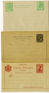 Romania 3 Early Stamps in Super Mint Condition Unsearched