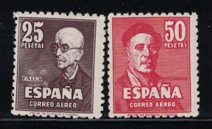 Spain  C123-C124  AP37-38   1947    MH Scv  $ 137.00
