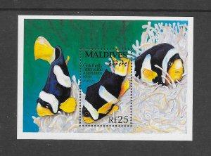 FISH - MALDIVES #1869  GOLDBELLY ANEMONE  MNH