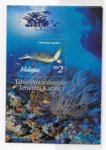 Malaysia 1997 Year of the Coral Reef Turtle 641 S/S MNH Box16