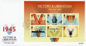 Jersey 2015 FDC Victory & Liberation 6v M/S Cover Second World War II Churchill