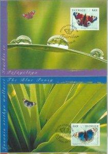 81339 - SWEDEN - Postal History - MAXIMUM CARD Set of 4 MAXIMUM CARD butteflies