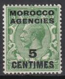 Great Britain-Morocco-1917 KGV 5c on 1/2p Sc#402-MNH(1674)