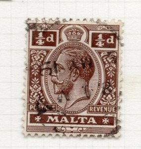 Malta 1914-22 Early Issue Fine Used 1/4d. 321503