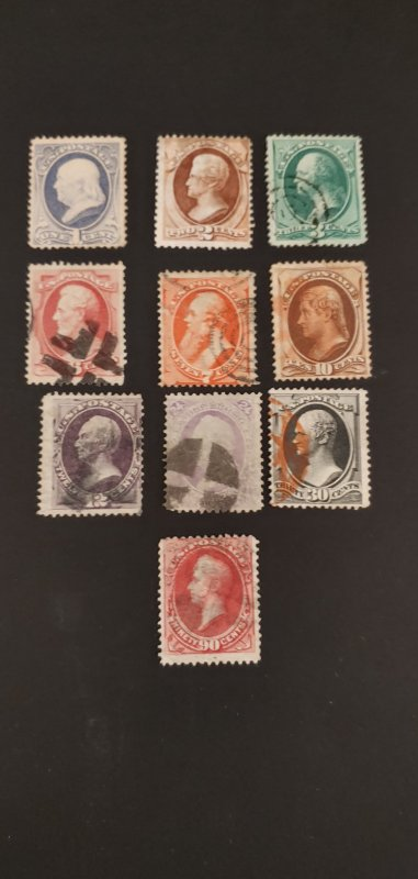 US #145-155 Used Set