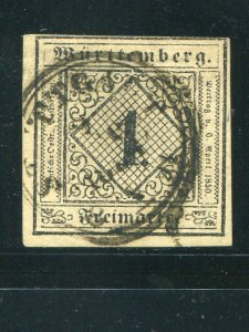 Wuerttemberg  Michel #1c  600 Eur