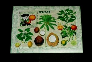 TOPICAL MIXED, 2007, MOZAMBIQUE, FRUITS, S/S, LOT #101, MNH, LQQK