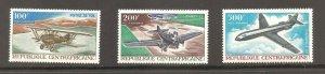Central African Republic  (1967)  - Scott # C47 - C49,     Aviation