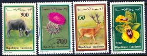 Tunisia 1990: Sc. # 985-988; O/Used Cpl. Set